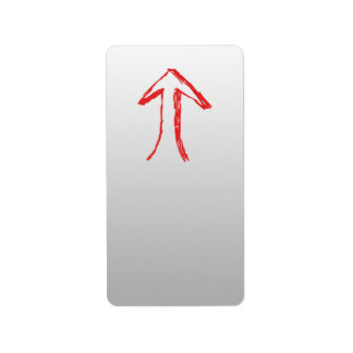 Arrow Pointing Up. On Gray. Label