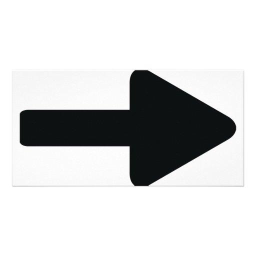 arrow right icon black picture card