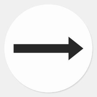 arrow right icon classic round sticker
