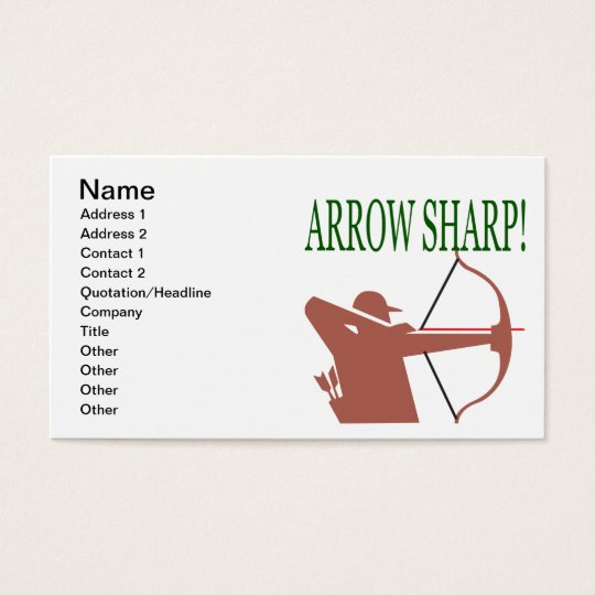Arrow Sharp Business Card