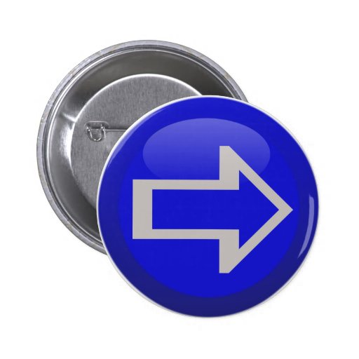 Arrow Sides Left Right Up Down Pinback Button