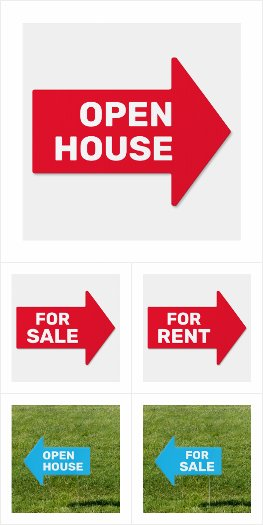 Arrow Signs for Realtors and Landlords