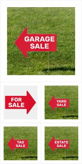 Arrow Signs for Yard Sales