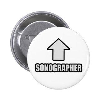 Arrow Sonographer Pinback Button