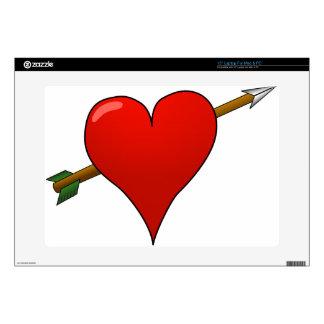Arrow Through Heart Laptop Skin