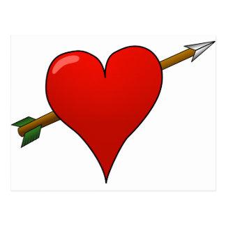 Arrow Through Heart Postcard