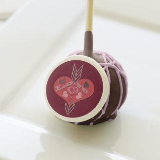 Arrow Through Love Hearts Cake Pops