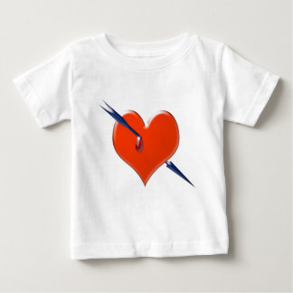 Arrow through the heart baby T-Shirt