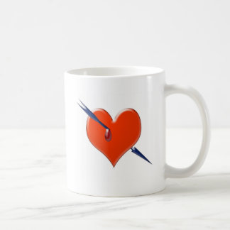 Arrow through the heart coffee mug