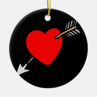 Arrow Through the Heart - L Christmas Tree Ornament