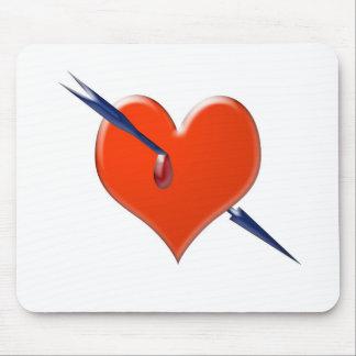 Arrow through the heart mouse pad