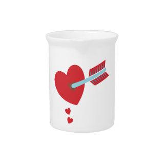 Arrow through the heart pitcher