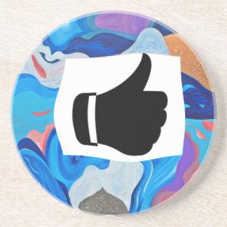 Arrow Thumbs Up Drink Coaster