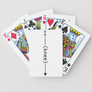 Arrow To Knee Bicycle Playing Cards