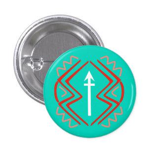 Arrow Tri-Colour (Artemis blue) 1 Inch Round Button