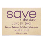 """Arrow Typography Save the Date, Violet 5"""" X 7"""" Invitation Card"""