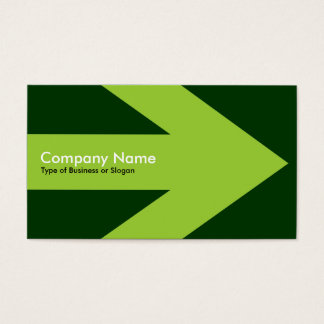 Arrow v3 (Martian Green) - Dark Green 003300 Business Card