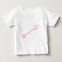 Arrow White-Red 35deg The MUSEUM Zazzle Gifts Baby T-Shirt