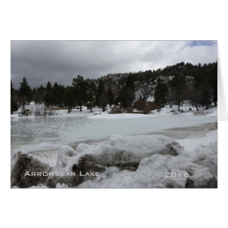Arrowbear Lake with Snow Scenery Card