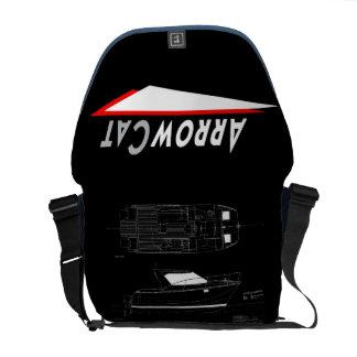ArrowCat Logo Messenger Bag w ArrowCat 30 Drawing