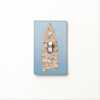 Arrowhead on Blue Light Switch Covers