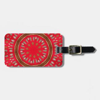 arrowhead pattern bag tag