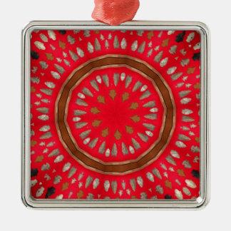 arrowhead pattern metal ornament