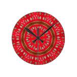arrowhead pattern round wall clock
