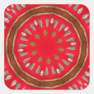 arrowhead pattern square sticker