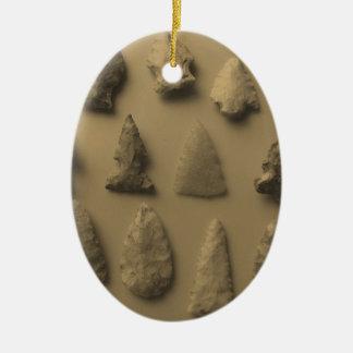 Arrowheads Ceramic Ornament