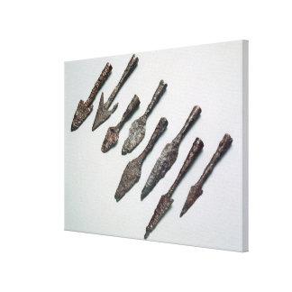 Arrowheads Iron Age iron Gallery Wrap Canvas