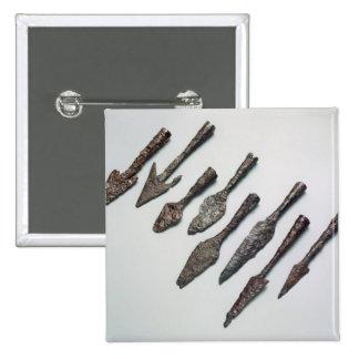 Arrowheads, Iron Age (iron) Pinback Button