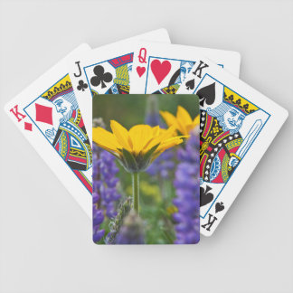 Arrowleaf Balsam Root and Lupine in Spring Bloom Bicycle Playing Cards