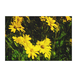 Arrowleaf Balsamroot Yellow Wildflower Abstract Canvas Prints