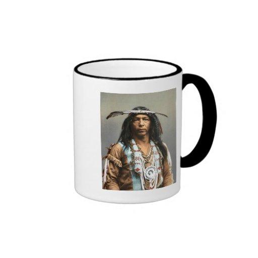 Arrowmaker - An Ojibwa Brave1903 Ringer Mug