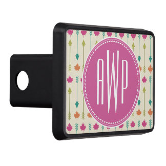 Arrows and Leaves Monogram Tow Hitch Cover