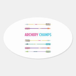 Arrows_Archery_Champs Pegatina Ovalada