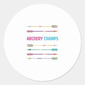Arrows_Archery_Champs Pegatina Redonda