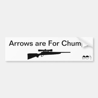 Arrows are For Chumps Bumper Sticker
