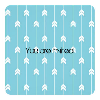Arrows Baby Shower 5.25x5.25 Square Paper Invitation Card