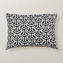arrows black and white geometrical pattern decorative pillow