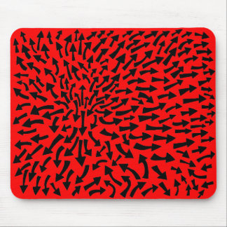 Arrows - Black on Red Mouse Pad