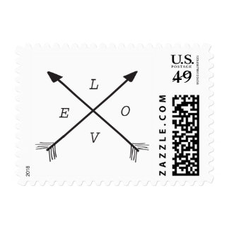 Arrows camping inspired love postage stamp