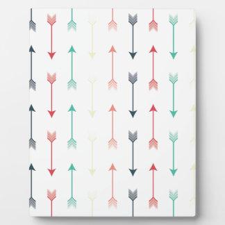 Arrows Colorful Fun Modern Pattern Plaque