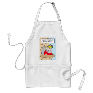 arrows crown king thank you input adult apron