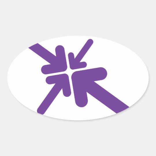 Arrows Design Oval Sticker