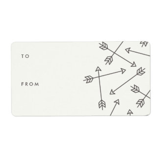 Arrows Gift Tag Label - Slate