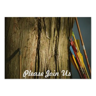 Arrows Leaning on a Tree Forestry Card