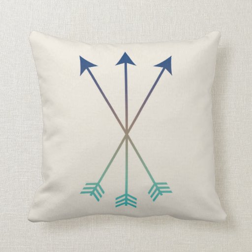 Arrows Modern Tribal Watercolor Art Navy and Blue Throw Pillow Zazzle