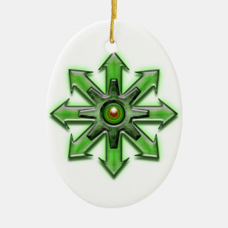 Arrows of Chaos - Green Christmas Ornament